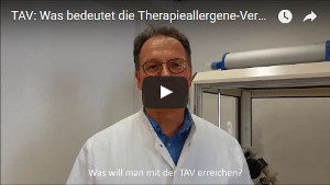 therapieallergeneverordnung tav