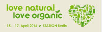 Love natural love organic Messe